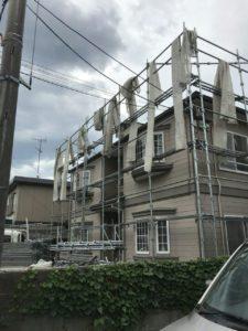 国分寺市にて地震保険活用しアパート外壁塗装