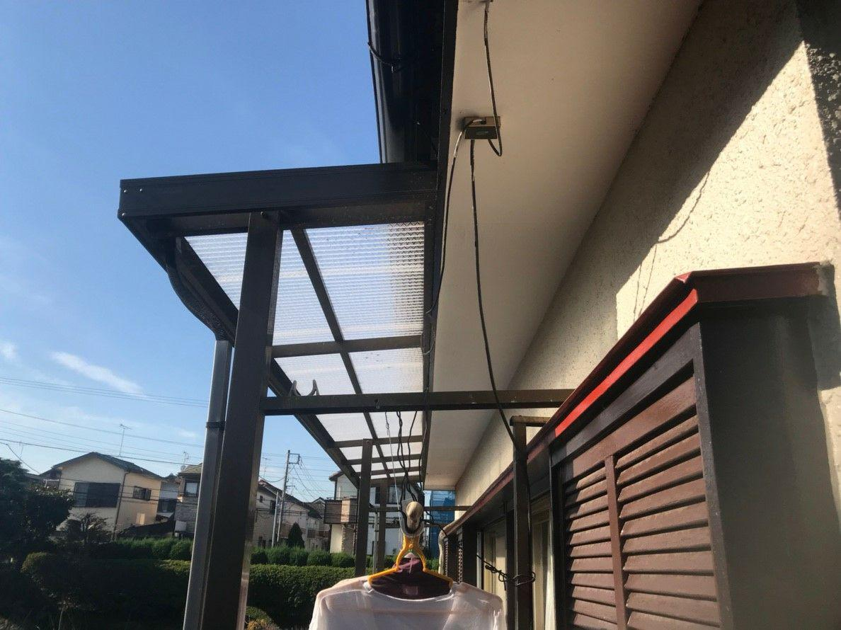 千葉県船橋市で雪止め・波板交換・雨樋交換・塗装工事