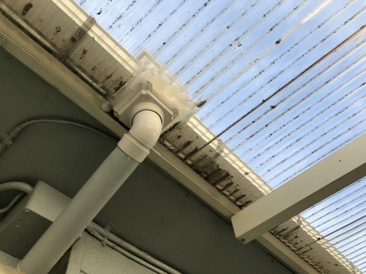 国分寺市で火災保険活用!木造アパートの雨樋工事 アパートオーナー様からのご依頼