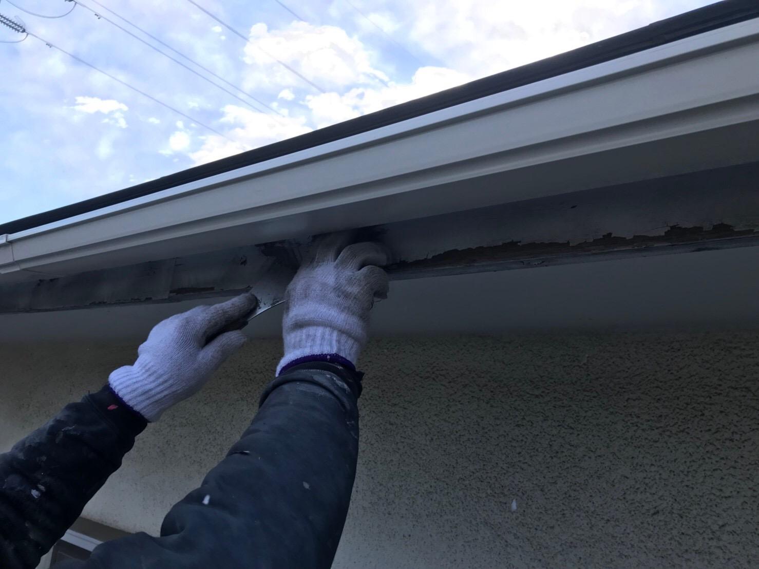 東京都町田市で破風板付帯部塗装工事