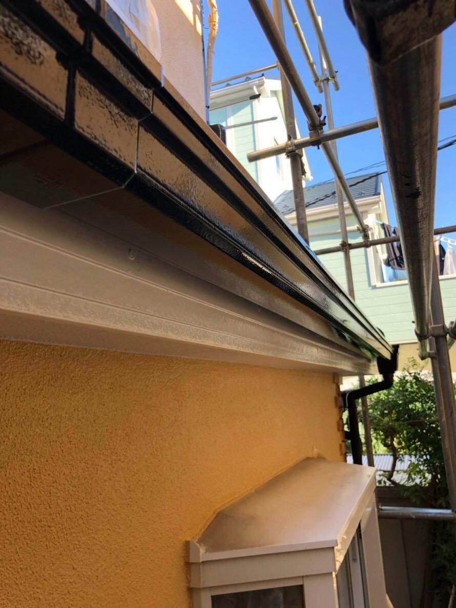 神奈川県相模原市で火災保険を申請・雨樋塗装