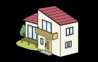 火災保険適応で屋根無料塗装のイラスト