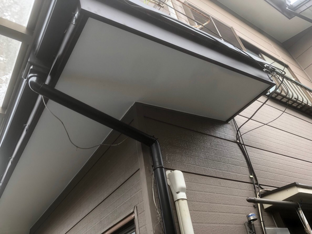 東京都東久留米市で火災保険を申請して雨樋無料工事