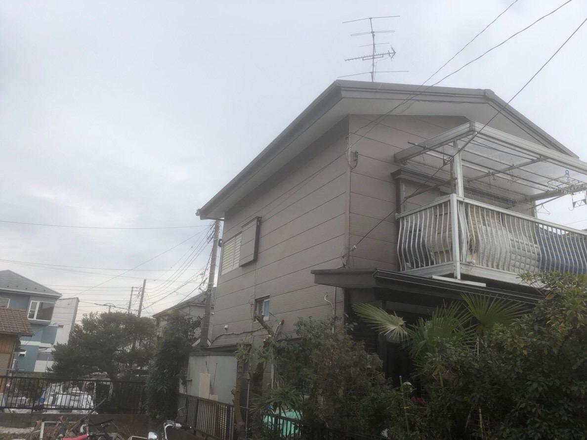 東京都東久留米市で火災保険を申請して雨樋無料工事の画像