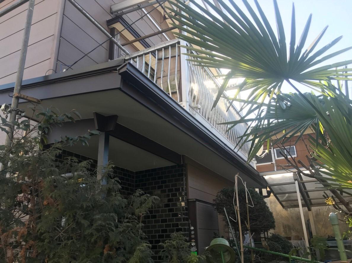 東京都東久留米市で火災保険を申請して雨樋無料修理の画像