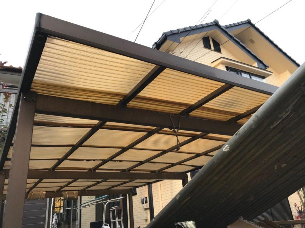 埼玉県大宮市でカーポート波板交換工事