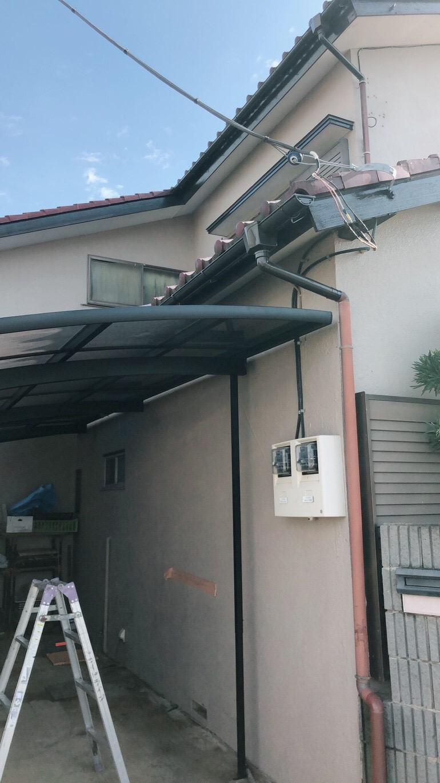 埼玉県川越市で雨樋・破風塗装工事