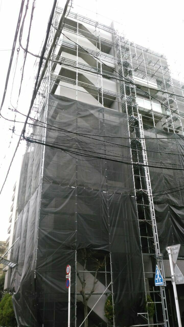 東京都武蔵野市で大型マンション外壁塗装の報告