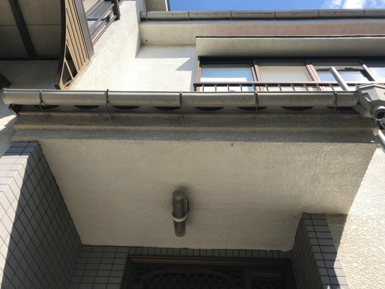 東京都葛飾区で火災保険申請による雨樋無料交換2