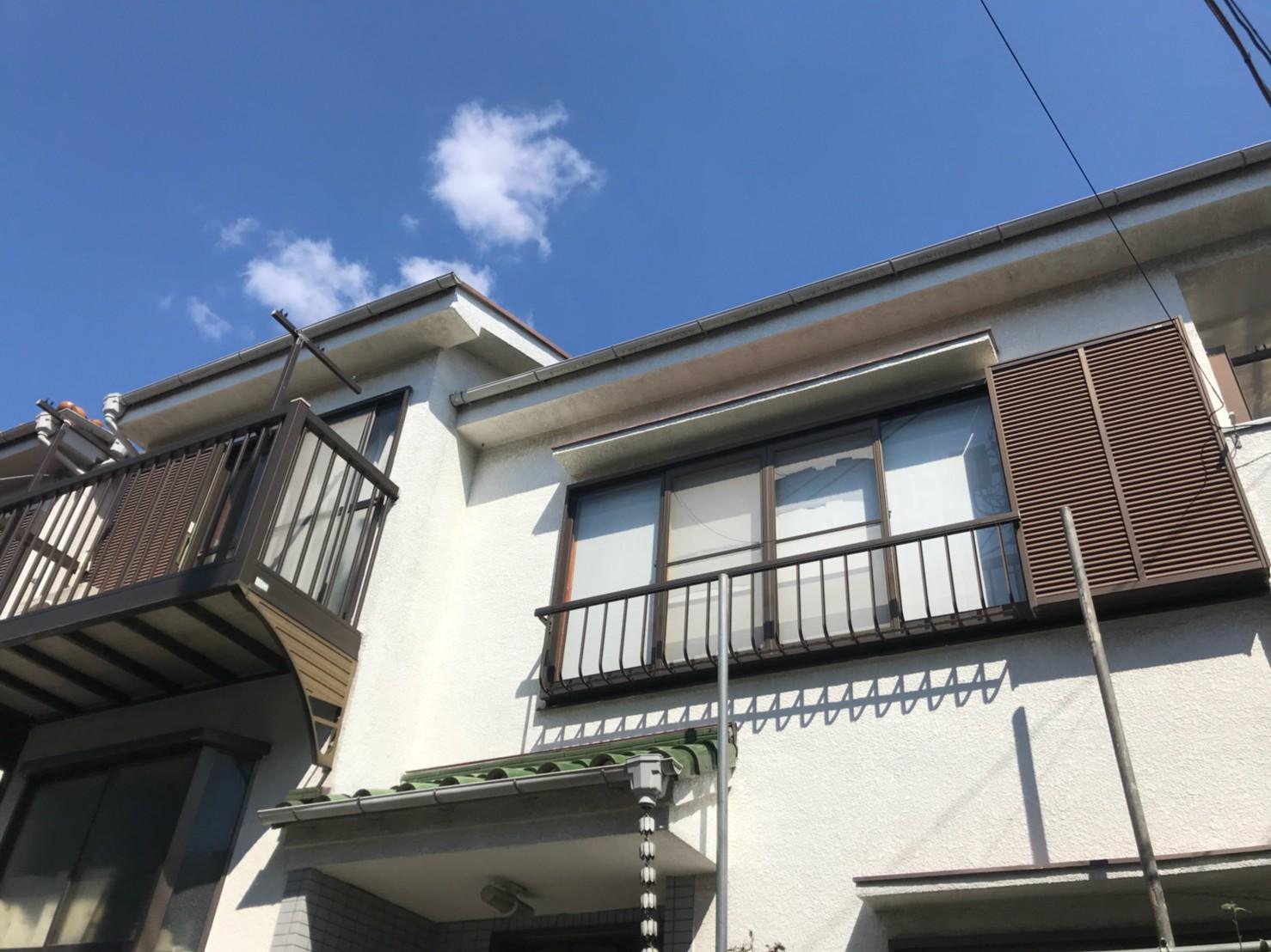 東京都葛飾区で火災保険申請による雨樋無料交換1