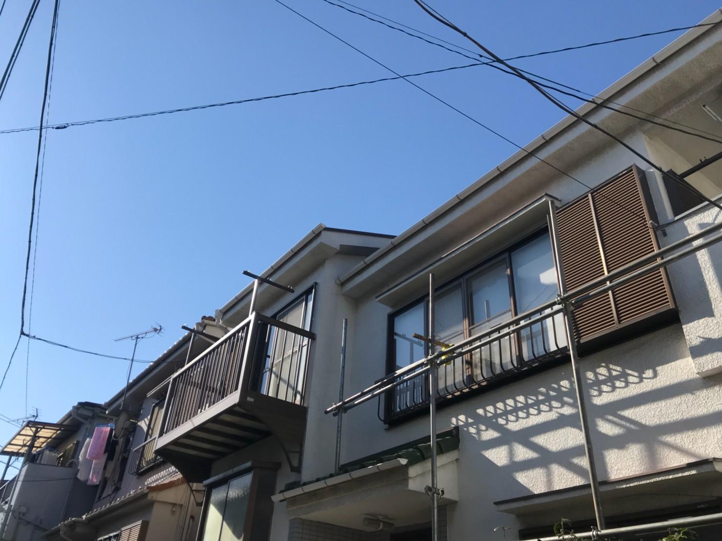 東京都葛飾区で火災保険申請による雨樋無料交換5