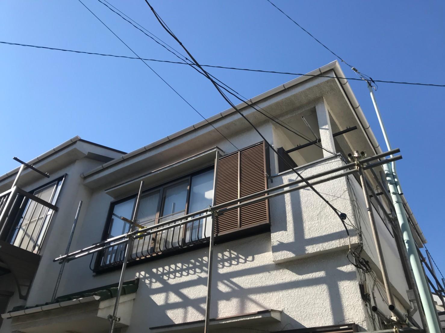 東京都葛飾区で火災保険申請による雨樋無料交換4