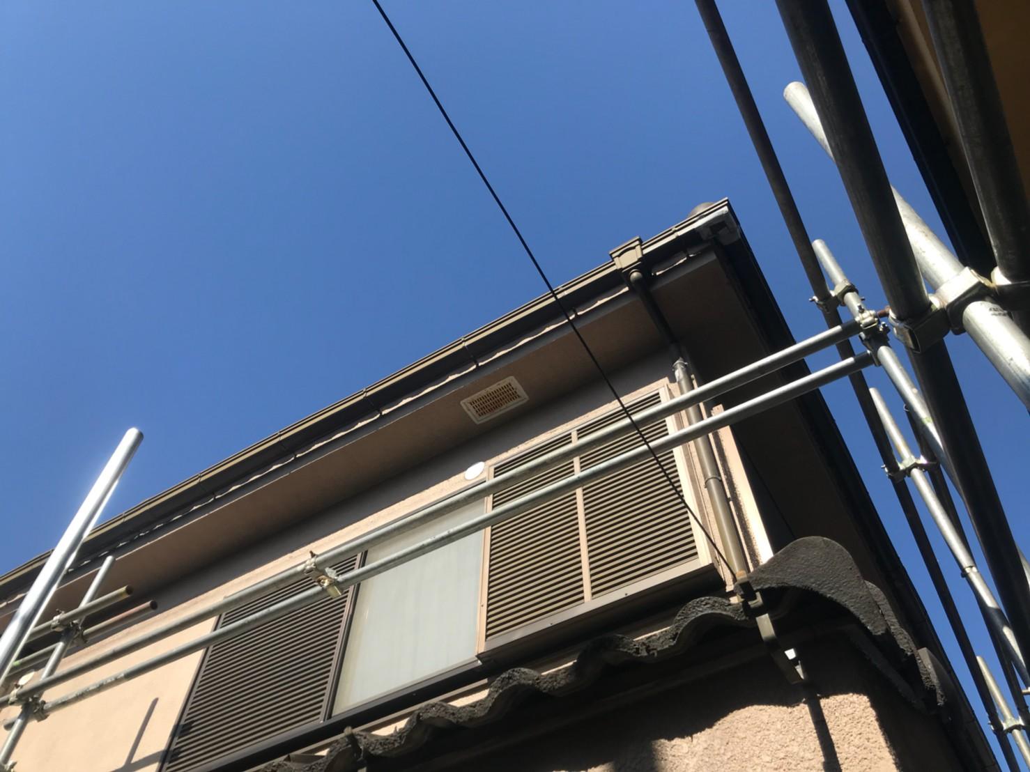 神奈川県横浜市で火災保険申請による雨樋無料修理2
