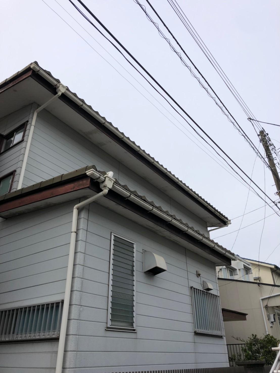 神奈川県横浜市で雨樋無料修理1