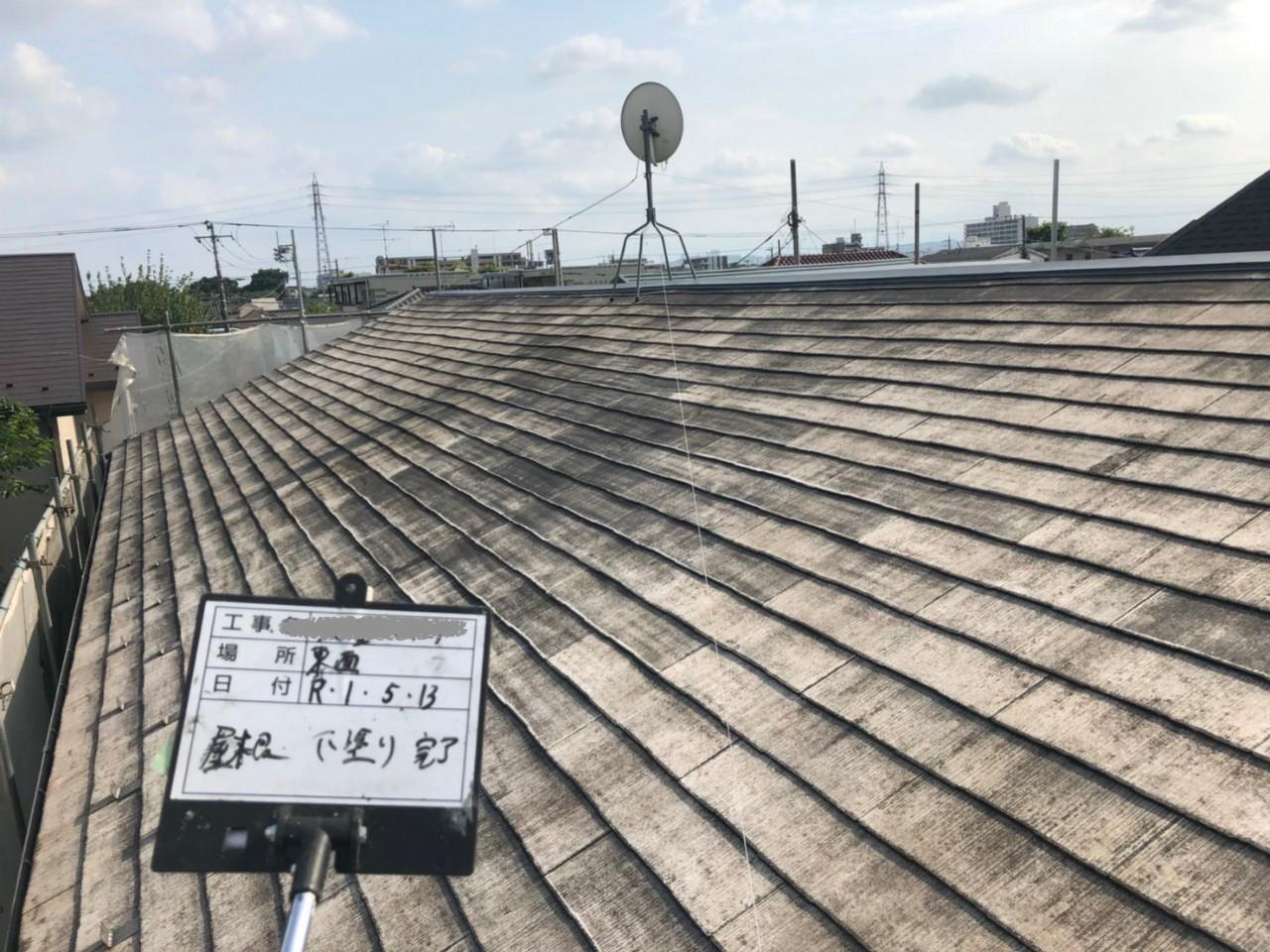 火災保険申請で自然災害での傷みを修理し屋根塗装も同時施工4
