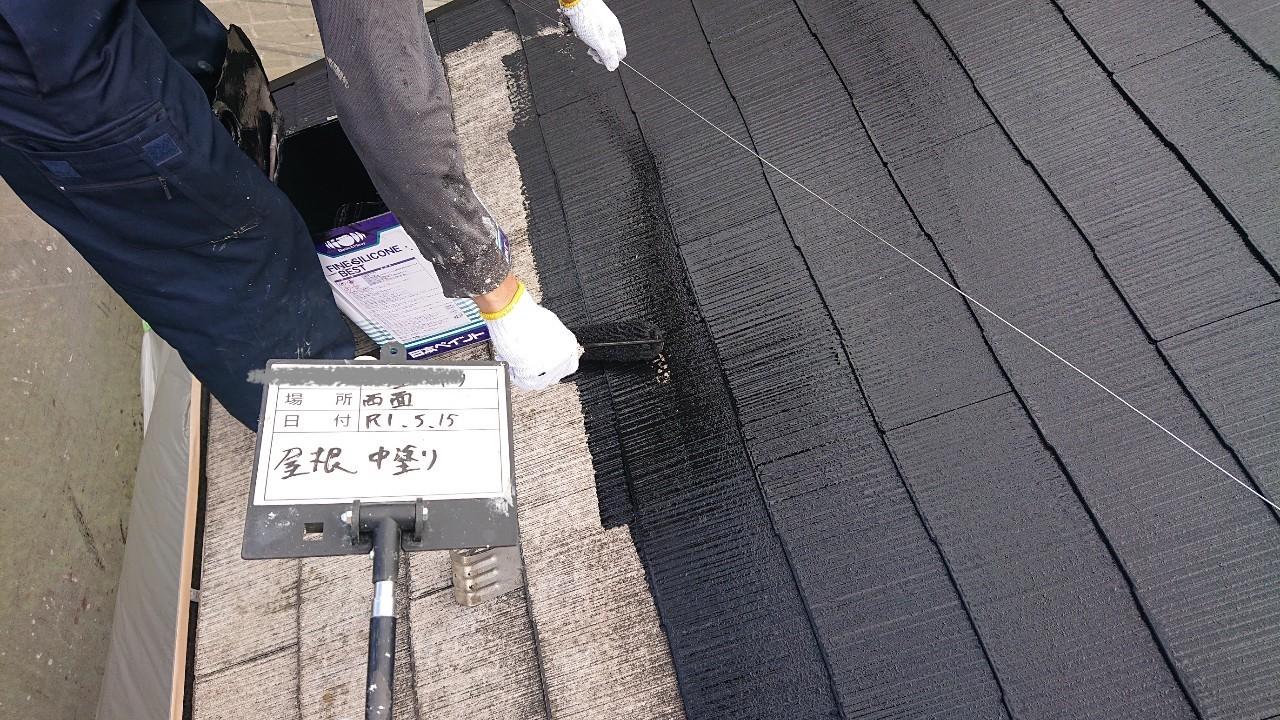 火災保険申請で自然災害での傷みを修理し屋根塗装も同時施工5