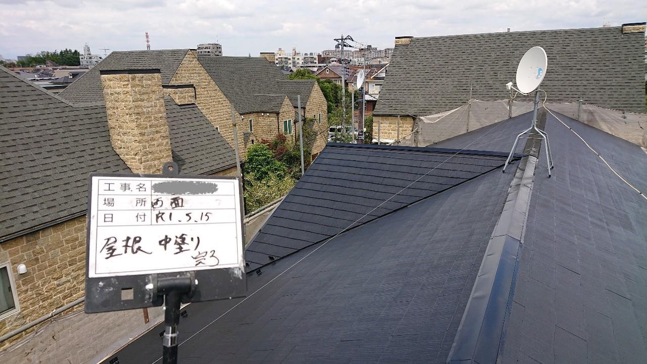 火災保険申請で自然災害での傷みを修理し屋根塗装も同時施工8