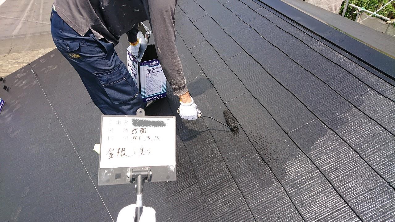 火災保険申請で自然災害での傷みを修理し屋根塗装も同時施工10