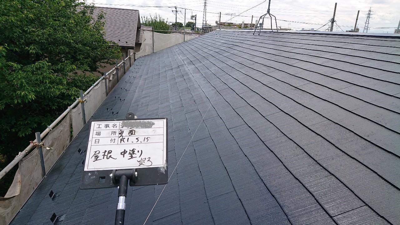 火災保険申請で自然災害での傷みを修理し屋根塗装も同時施工9