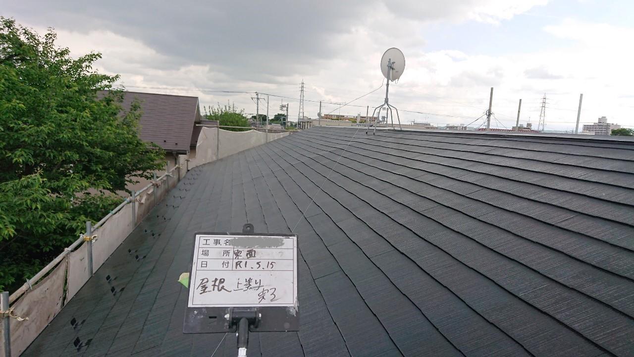 火災保険申請で自然災害での傷みを修理し屋根塗装も同時施工12