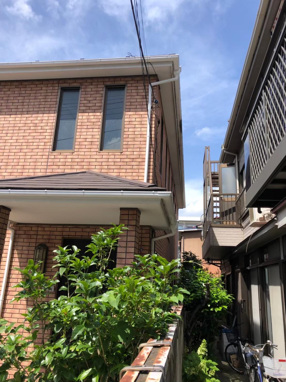 神奈川県鶴見区で雨樋無料交換を実施3