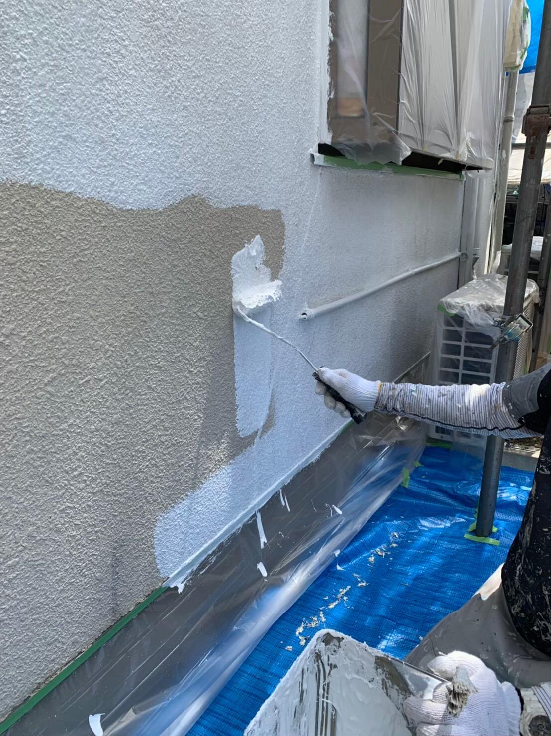地震保険申請でクラック補修と外壁塗装3