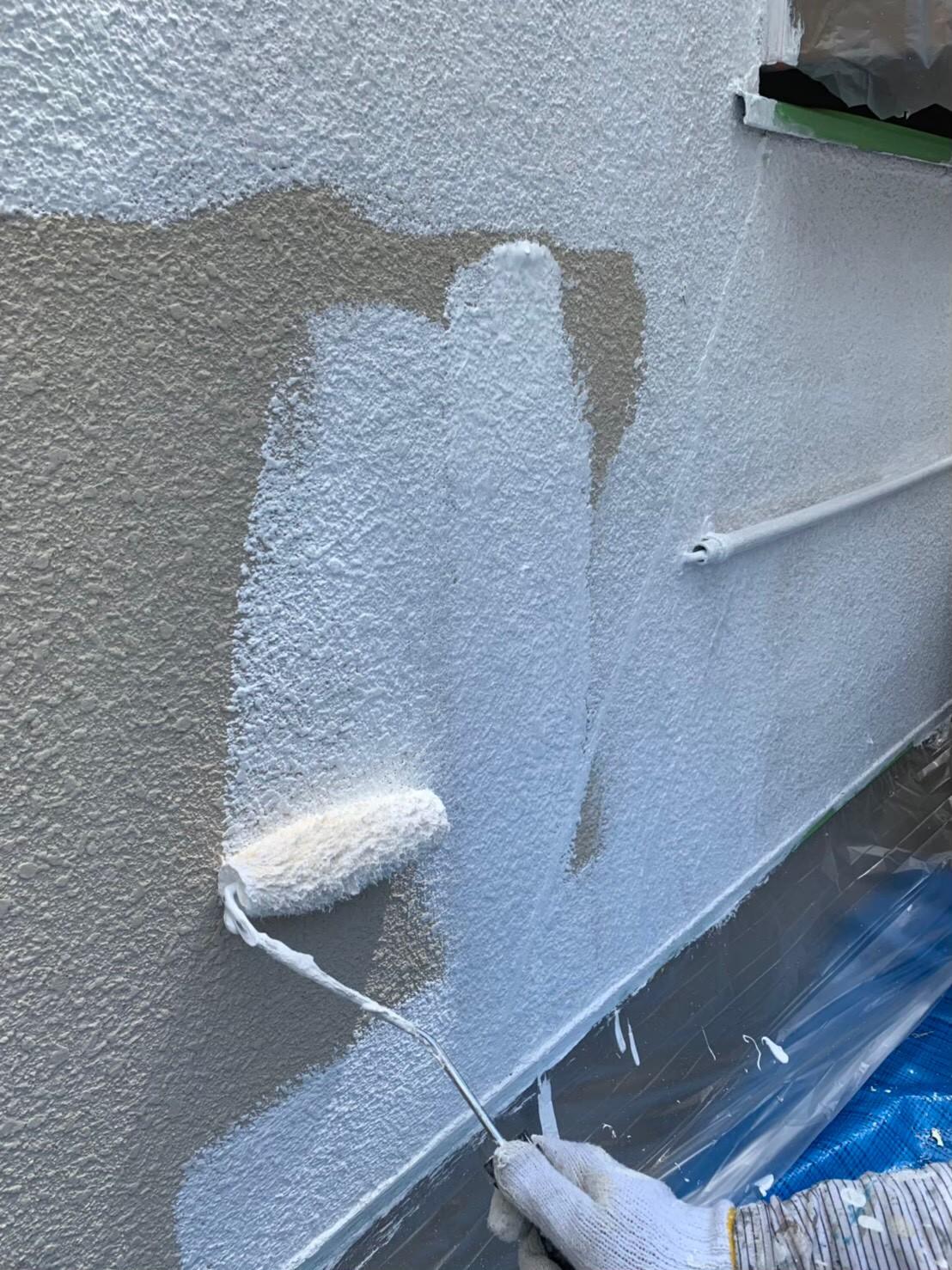 地震保険申請でクラック補修と外壁塗装4