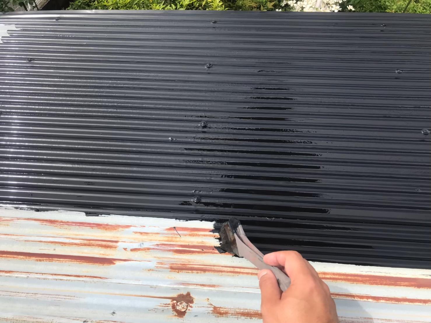 東京都八王子市で火災保険活用で波板塗装4
