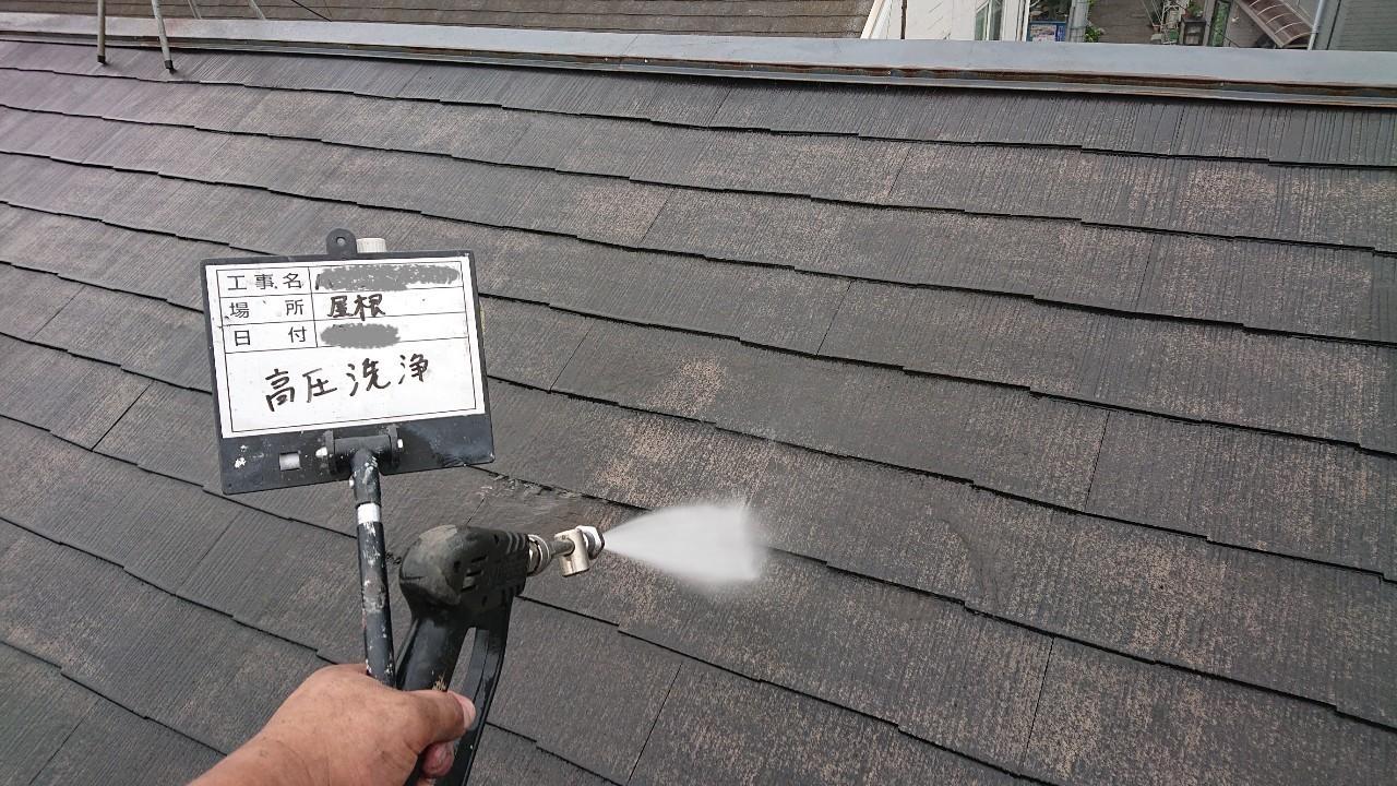 塗装工事前の洗浄処理の様子をご紹介4