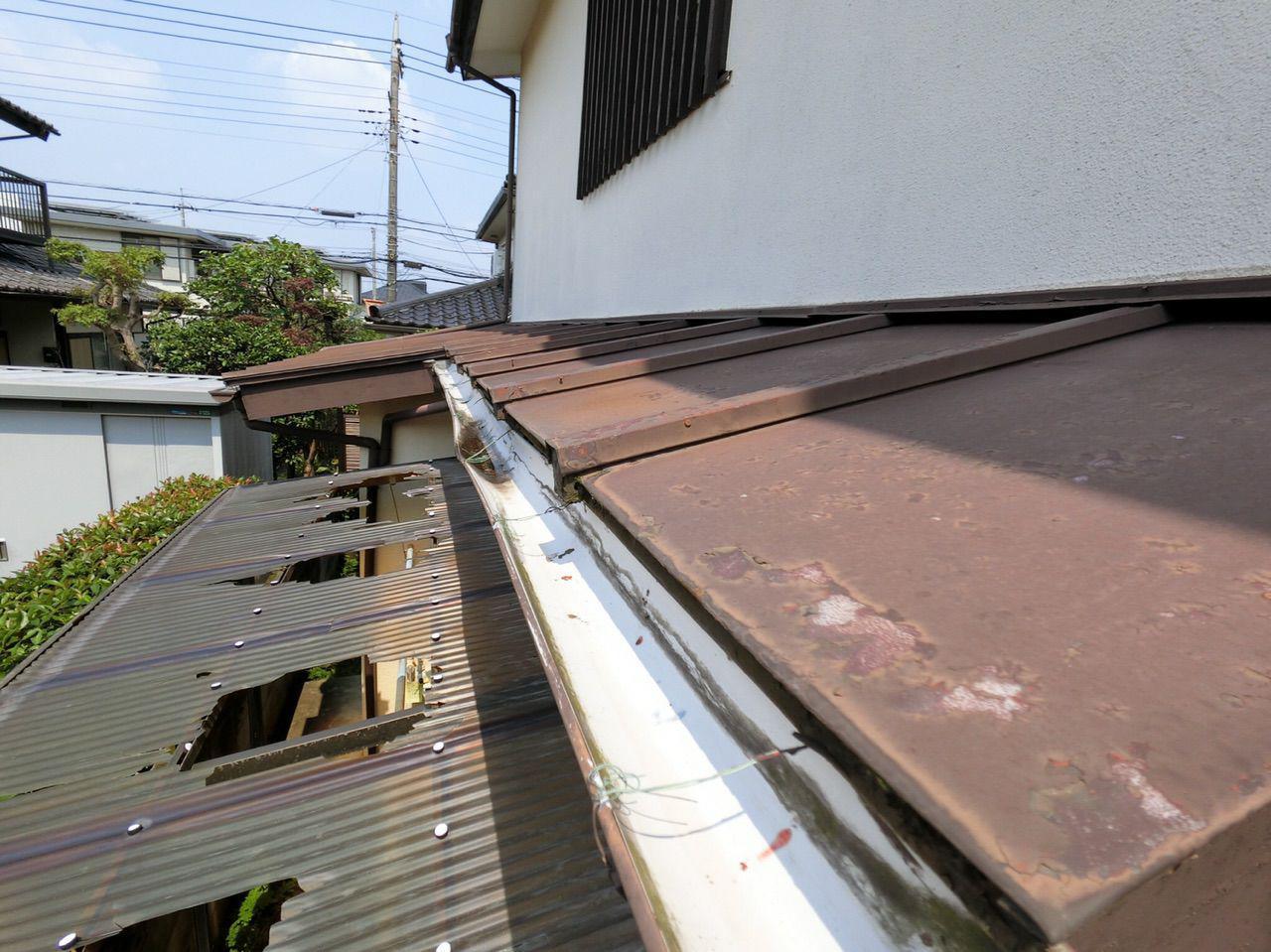 埼玉県所沢市にてカーポート 雨樋 棟板金 火災保険を使った実質負担ゼロ工事
