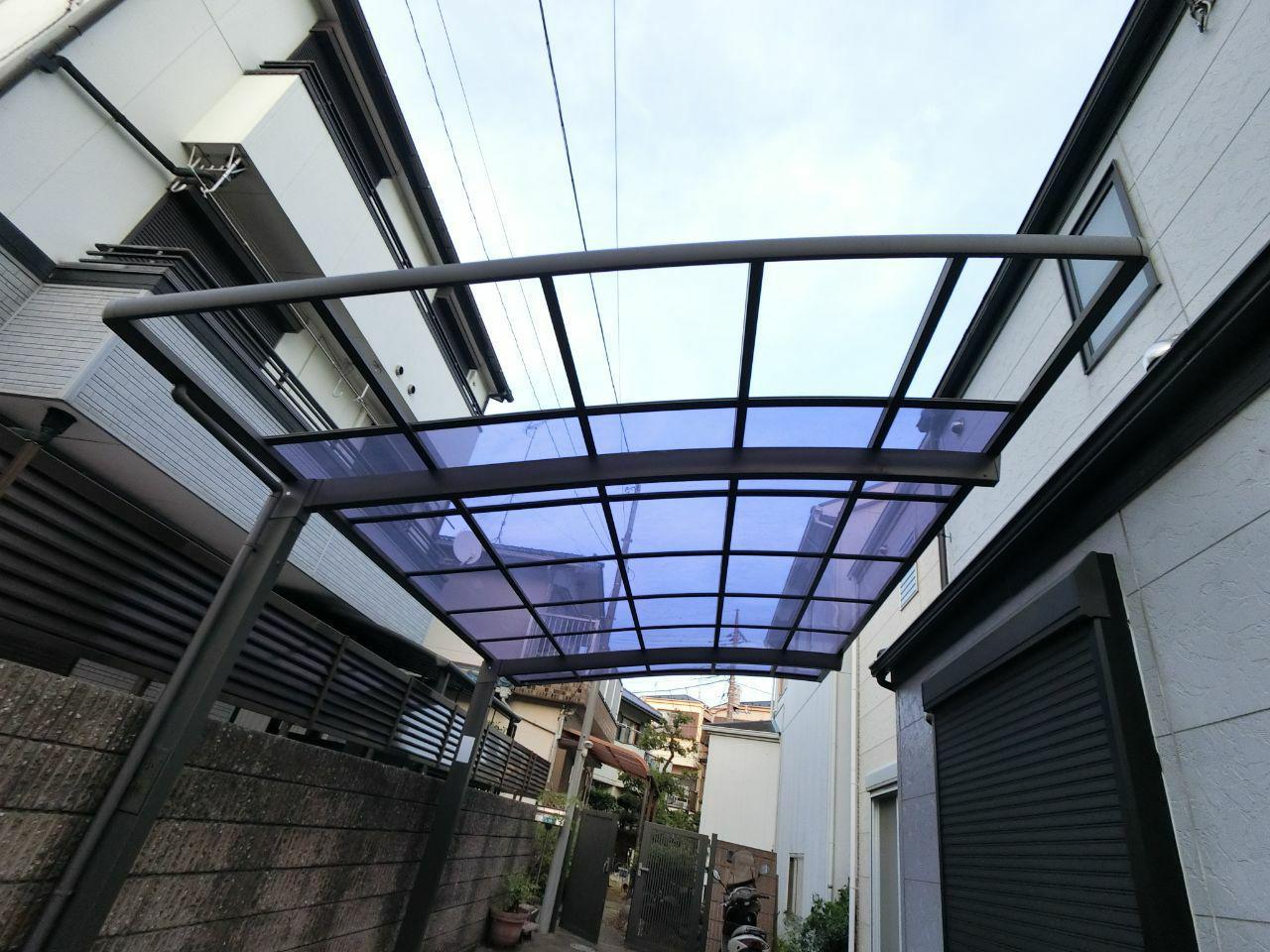 江戸川区や中野区でも台風15号の被害あり。カーポートやベランダ屋根の火災保険補修