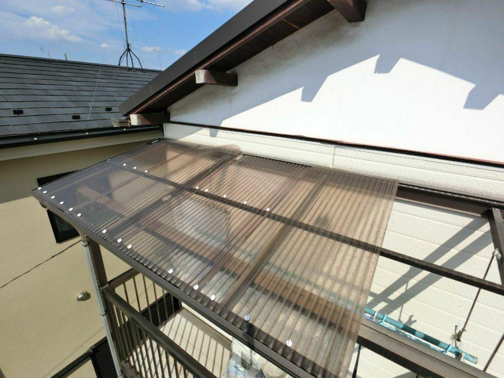 江戸川区で台風被害!カーポートとベランダ修理