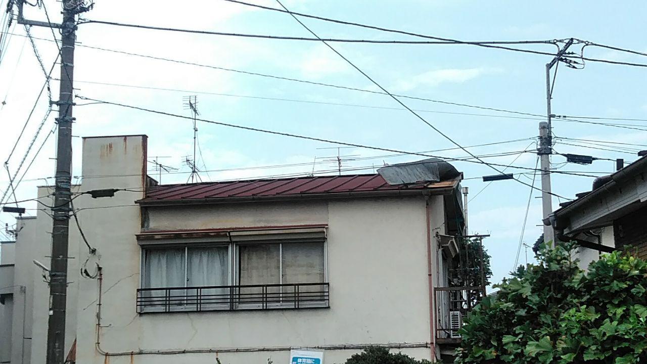 東大和市と武蔵村山市で台風15号の被害を火災保険で屋根工事