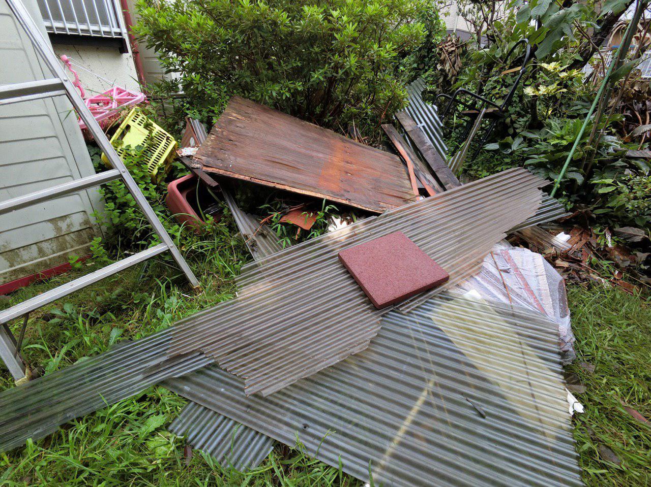 千葉県千葉市で台風15号の被害!火災保険を使って波板交換工事!