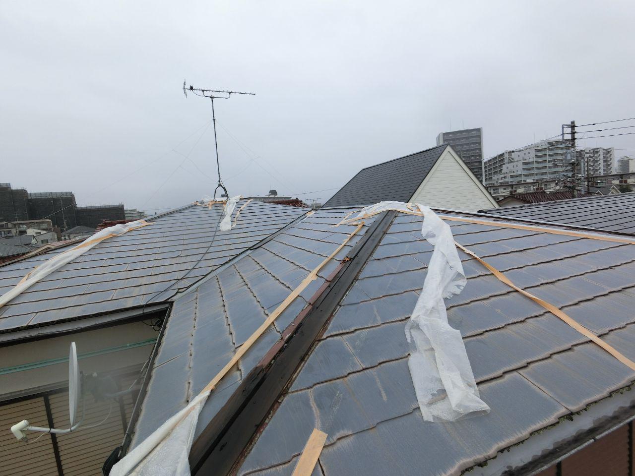 相模原市で台風19号の被害!棟板金を火災保険修理