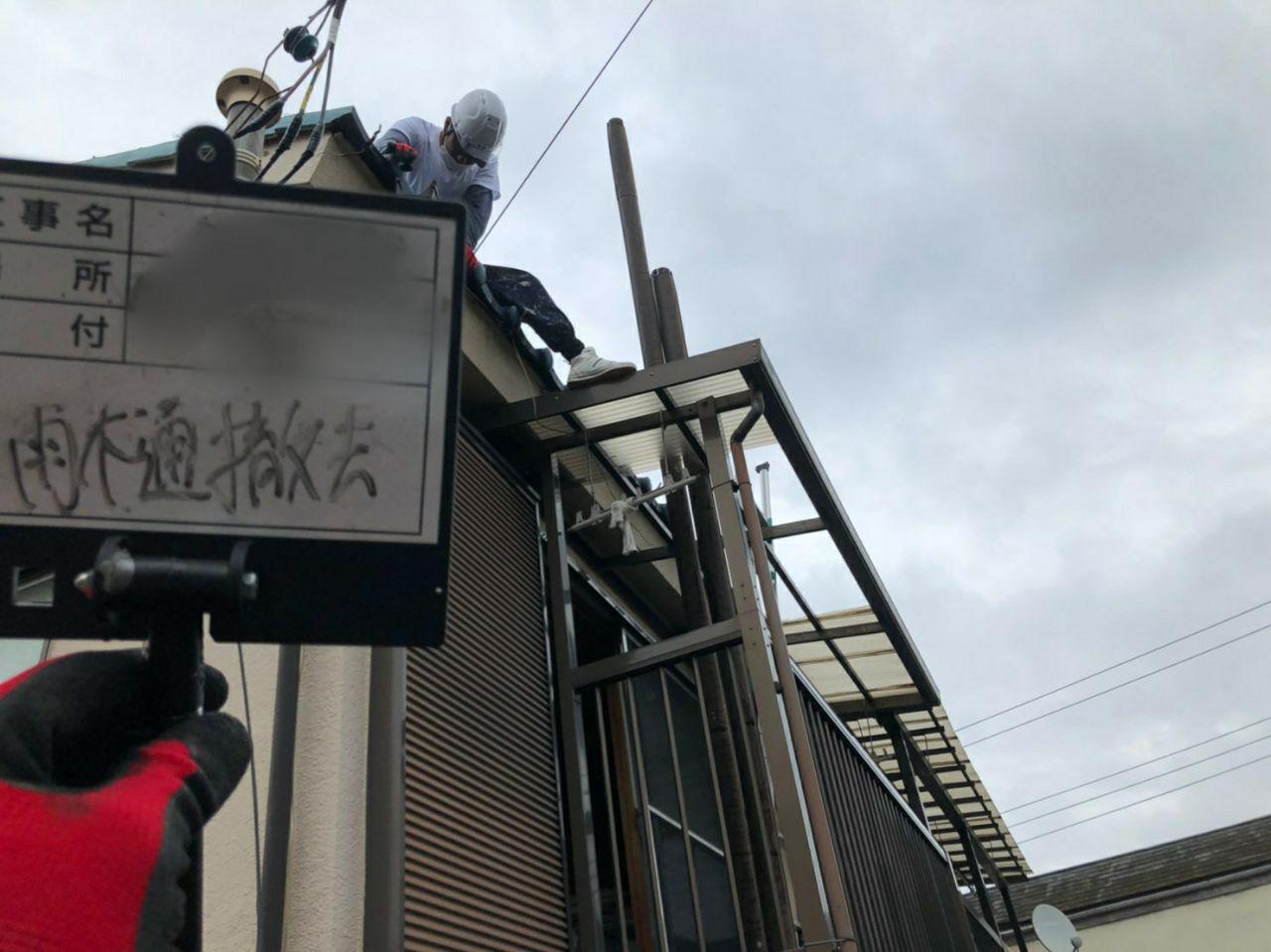 東京都西東京市で波板屋根と雨樋工事完了報告!火災保険で負担ゼロ工事!