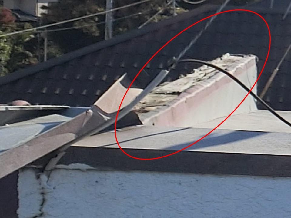千葉県柏市で台風により破損した傘木板金を調査!