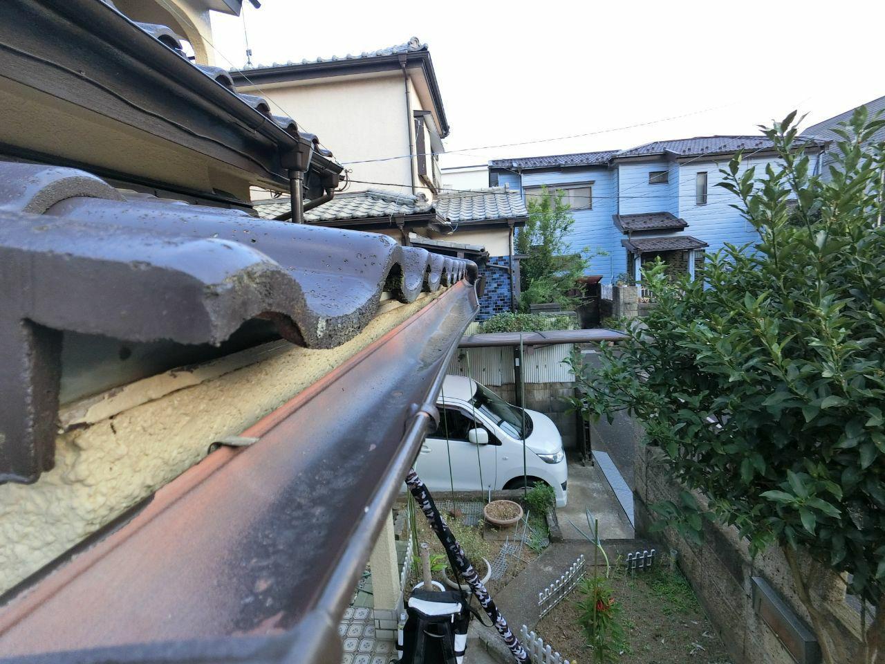 ふじみ野市で雪台風被害 屋根雨どい交換修理工事