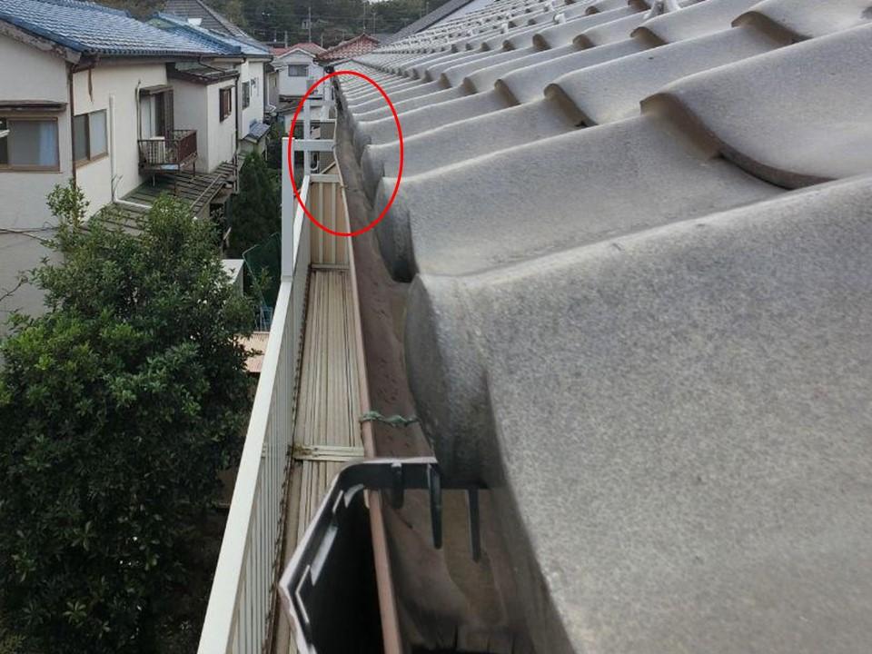 火災保険で工事費0円!埼玉県新座市で大雪で壊れた雨どいを修復!