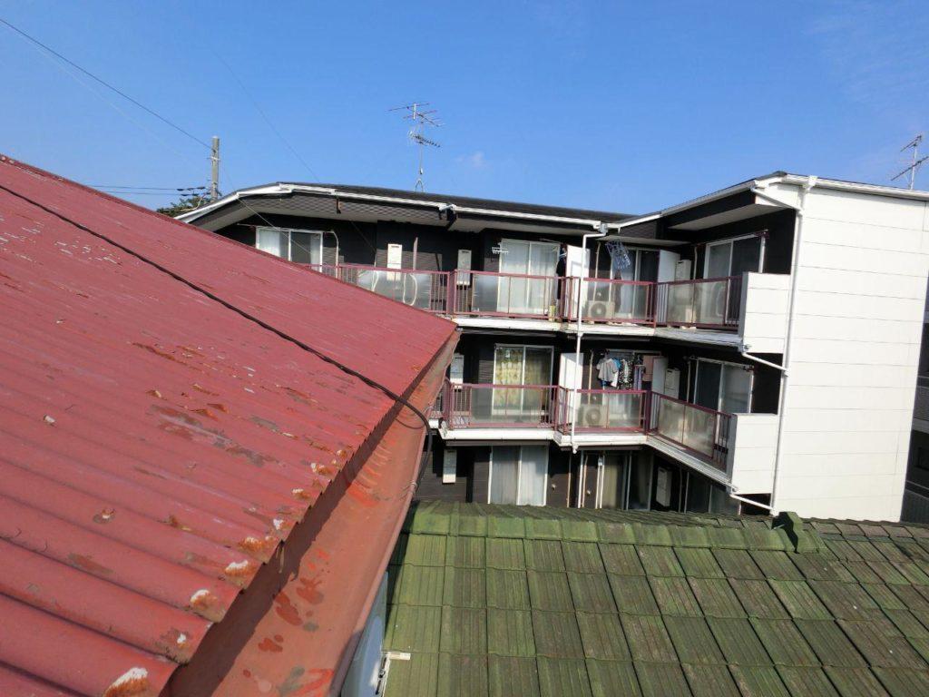相模原市中央区で雨どい交換 台風大雪の被害回復
