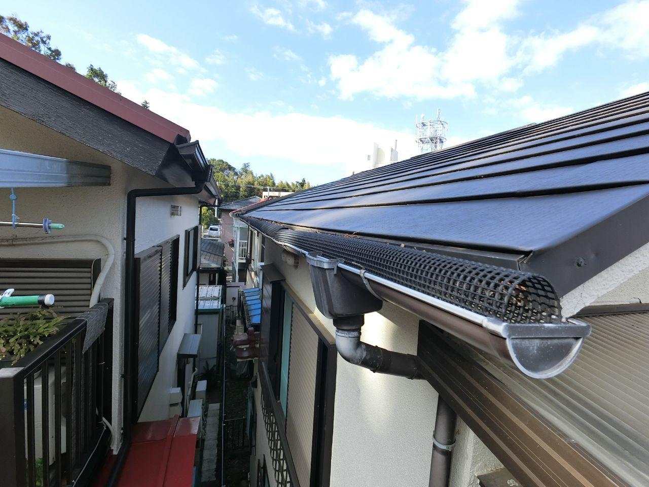 神奈川県綾瀬市で雨どいネット修理!詰まり改善!