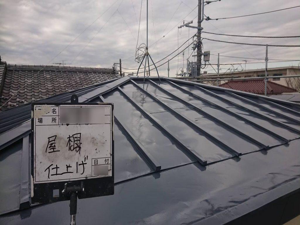 東京都練馬区で屋根の塗装&通気口取り付け工事