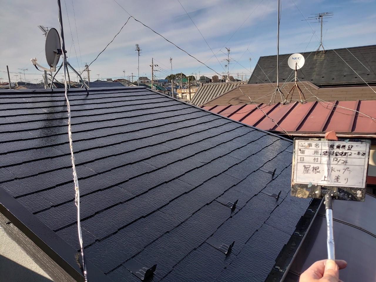 【施工完了報告!】地震保険の使い方知っていますか?埼玉県新座市にて屋根&付帯部塗装!