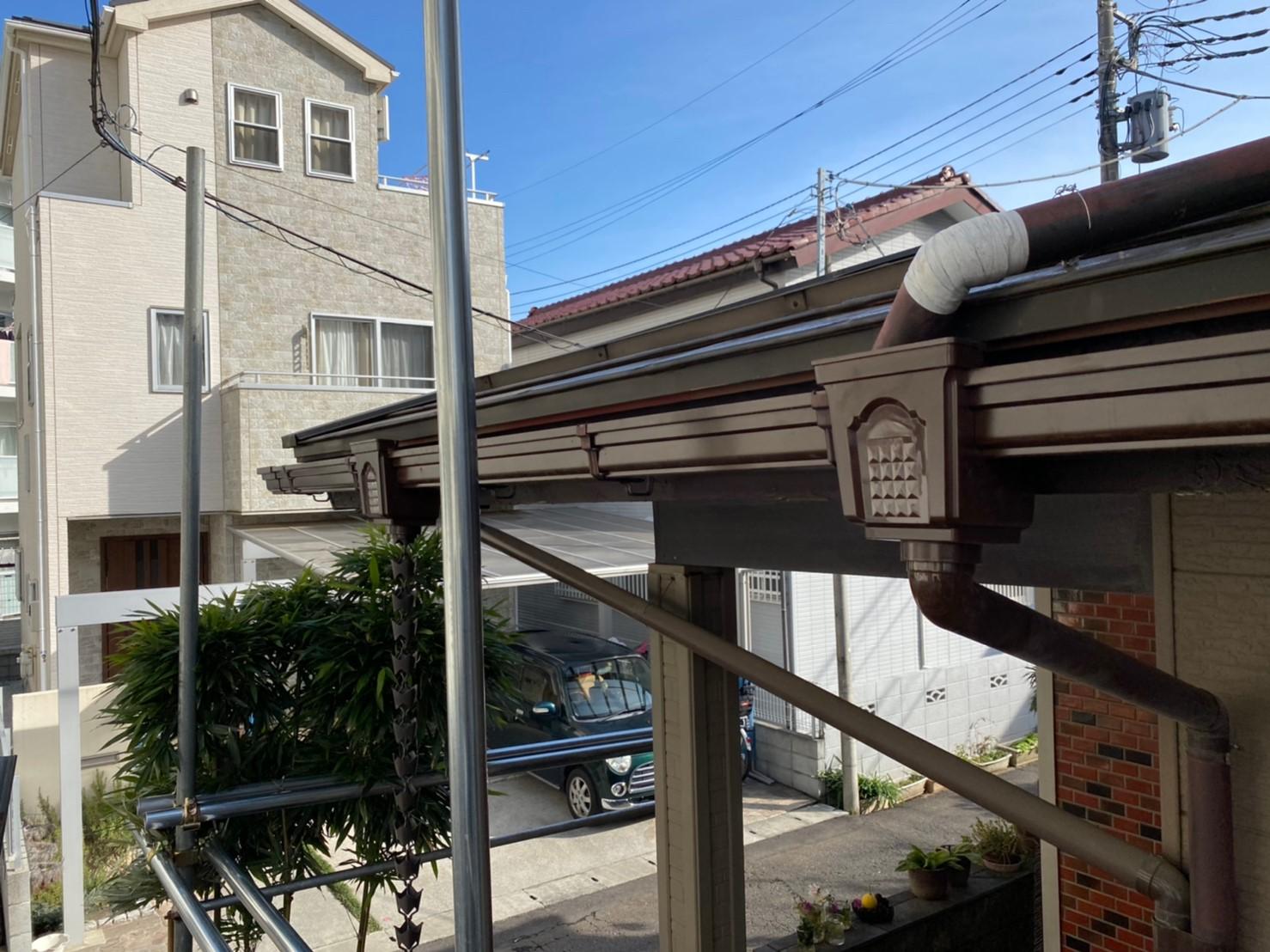 【施工完了報告!】ハートホームの5つのお約束!東京都東大和市にて雨どい交換工事!