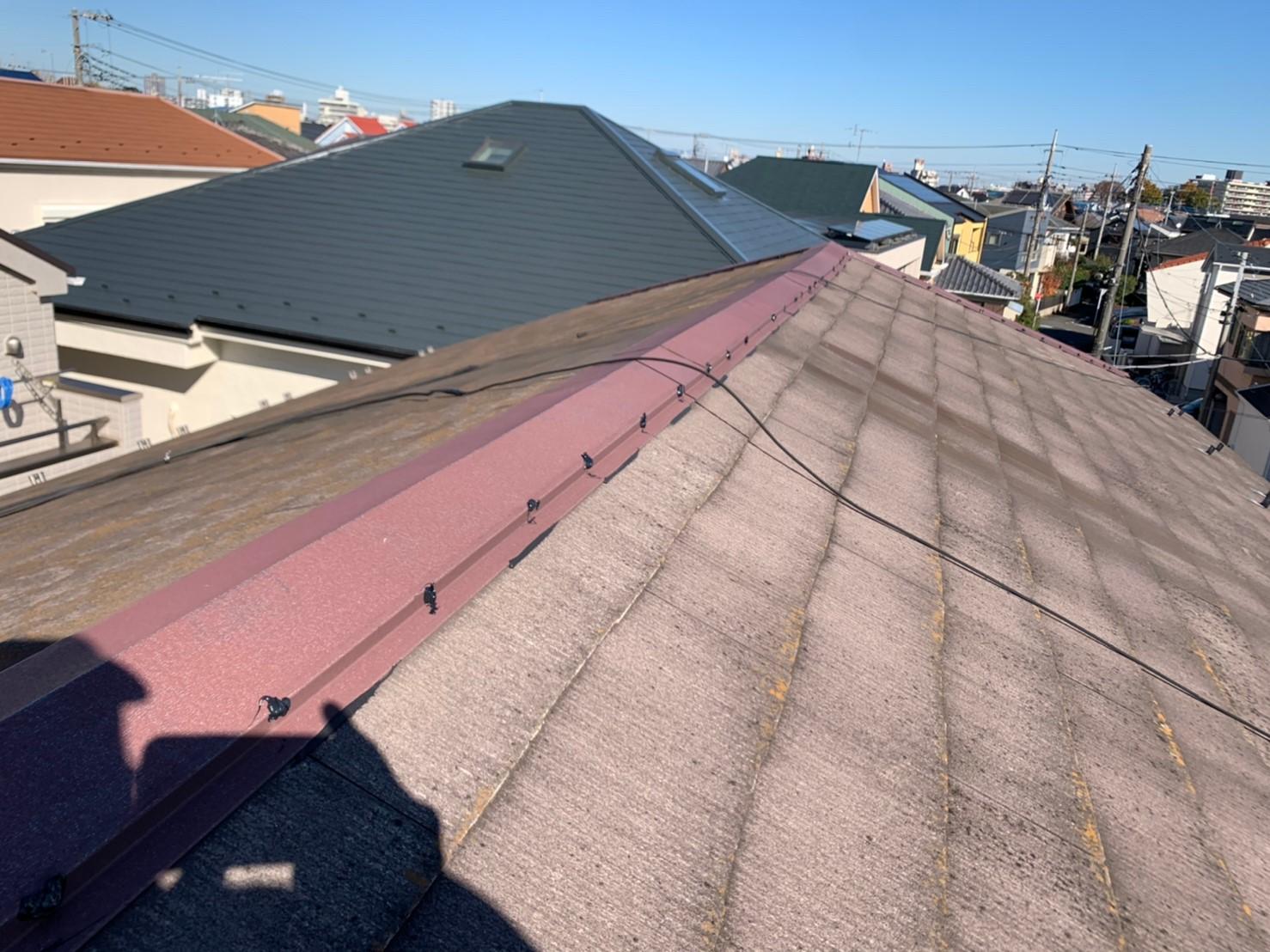 【施工完了報告!】台風による被害続出!!千葉県船橋市にて棟板金工事を行いました。