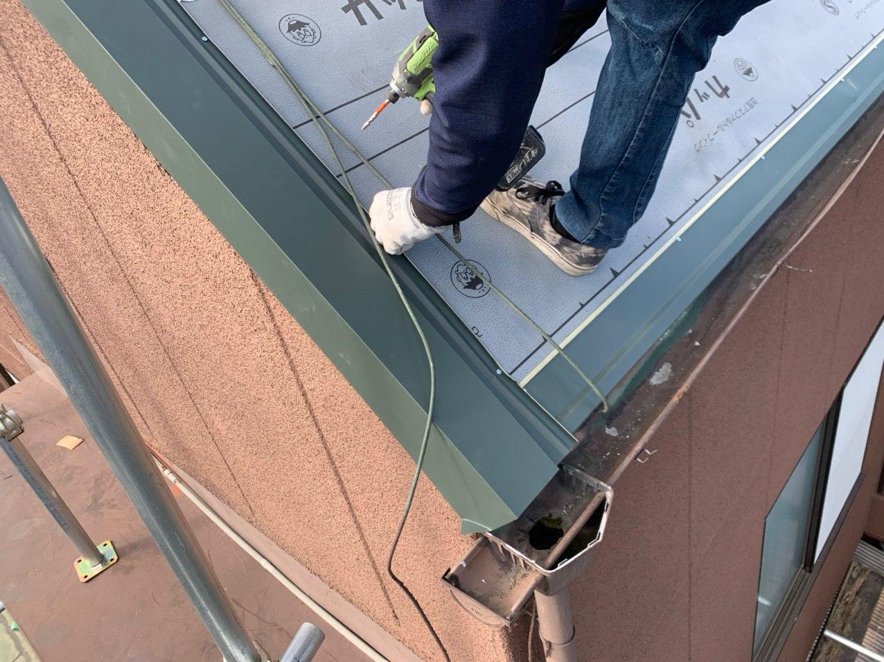 文京区で屋根重ね葺き工事完了!火災保険を使った実費負担ゼロ工事!