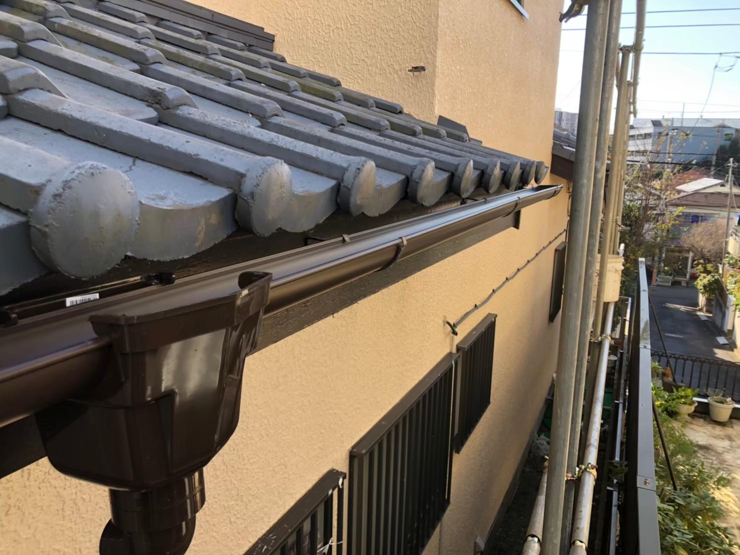 【施工完了報告!】ハートホームでは有資格者が対応します!千葉県袖ケ浦市にて雨どい交換工事を実施!