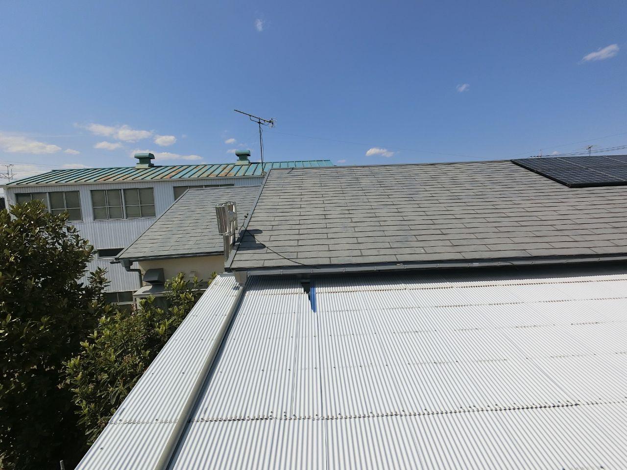 埼玉県吉川市で雨樋や波板の損害調査