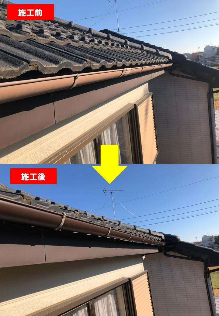 【施工完了報告!】雨どい定期点検しませんか?埼玉県さいたま市にて台風による被害を修復!