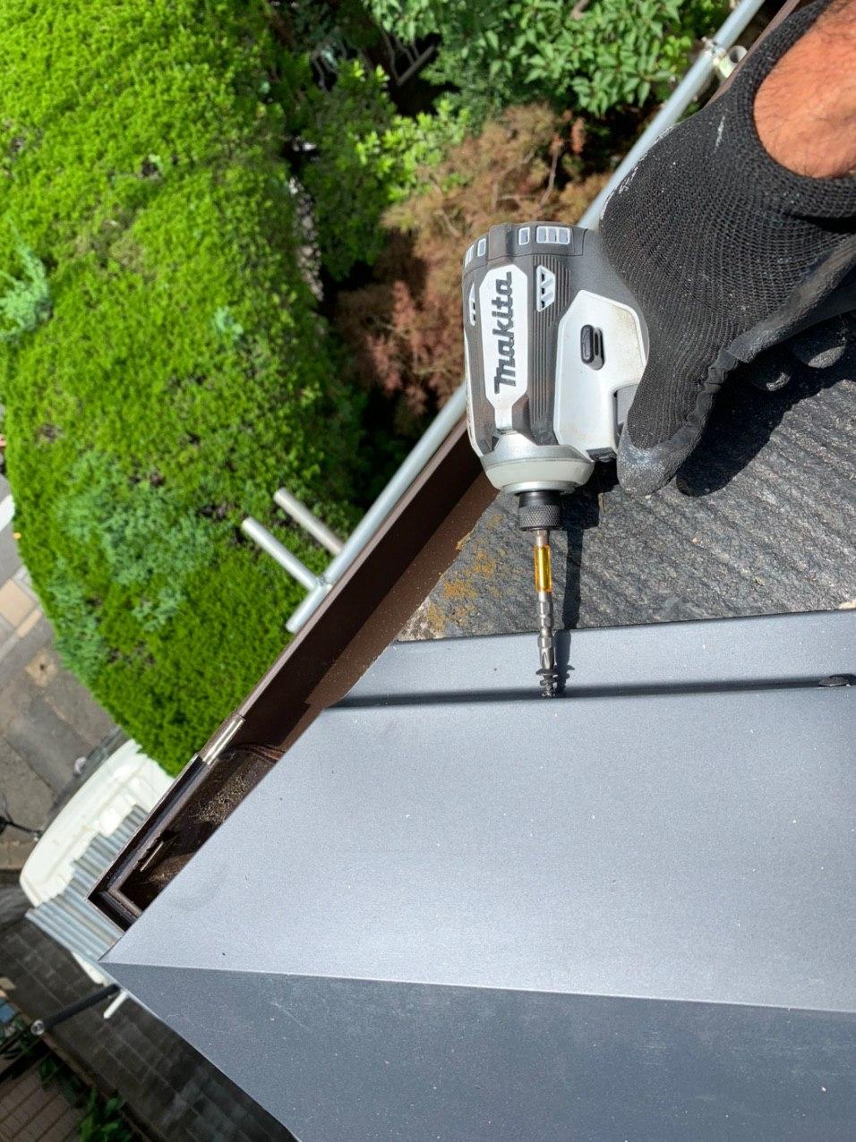 東京都江戸川区にて棟板金工事を行いました!雨漏れ工事実施!